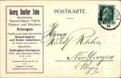 Postcard Erlangen Mittelfranken Bayern, Mechanische Baumwollgarnfabrik, Georg Doeller