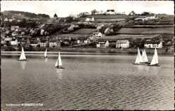 Postcard Rurberg Simmerath in der Eifel, Blick über Gewässer mit Segelbooten