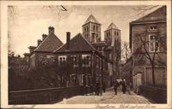 Postcard Münster in Westfalen, Spiegelturm, Blick auf den Dom