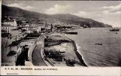 Postcard Insel Madeira Portugal, Bahia do Funchal, Blick auf die Promenade