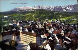 Ak Feldkirch Vorarlberg Österreich, Blick auf den Ort, Gebirge, Purger 11753