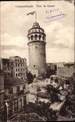 Postcard Konstantinopel Istanbul Türkei, Tour de Galata, Blick auf einen Turm