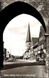 Postcard Dülmen in Nordrhein Westfalen, Blick zur St. Viktor Kirche