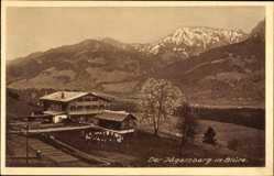 Postcard Langenwang Fischen im Allgäu in Schwaben, Kindererholungsheim Jägersberg
