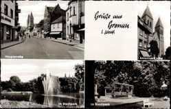 Postcard Gronau im Münsterland Westfalen, Hauptstraße, Stadtpark, Antoniuskirche