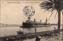 Ak Französisches Kriegsschiff, Le Suchet, Croiseur de premier rang