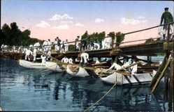 Postcard Das Deutsche Heer, Pioniere beim Brückenbau, Soldaten im Kaiserreich