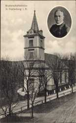 Ak Miedzianka Bergstädtchen Kupferberg Schlesien, Bruderschaftskirche, Pfarrer
