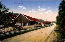 Postcard Val et Chatillon Meurthe et Moselle, Blick auf ein Sägewerk, Forstwirtschaft