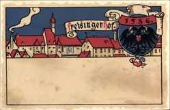 Wappen Litho Wien Österreich, Freisinger Hof von 1586