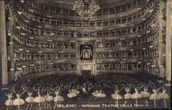 Postcard Milano Mailand Lombardia, Interno Teatro della Scala, Ballettaufführung