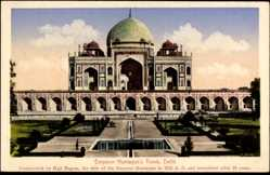 Postcard Delhi Indien, Emperor Humayun's Tomb, Grabstätte, Gartenanlage