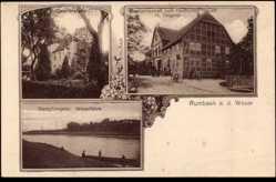Postcard Rumbeek an der Weser Hessisch Oldendorf, Gastwirtschaft z. Dt. Hause,Teigeler