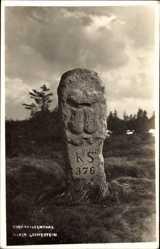 Postcard Oberwiesenthal im Erzgebirge Sachsen, Alter Grenzstein, KS 376