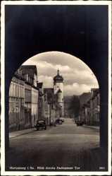 Postcard Marienberg im Erzgebirge Sachsen, Blick durch das Zschopauer Tor