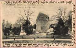 Postcard Hannover in Niedersachsen, General von Rosenberg Denkmal, enthüllt 1902