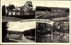 Postcard Wennigsen im Deister, Forsthaus Georgsplatz, Teich