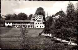 Postcard Königsfeld im Schwarzwald Baar Kreis, Gästehaus der Brüdergemeinde, Vogelnest
