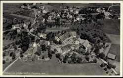Postcard Oberzell Dasing Schwaben, Blick auf den Ort, Fliegeraufnahme