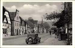 Postcard Beverungen in Nordrhein Westfalen, Langestraße, Auto, Kirchturm
