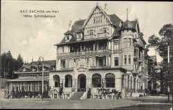 Postcard Bad Sachsa in Niedersachsen, Blick auf das Hotel Schützenhaus