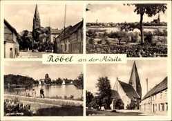Postcard Röbel an der Müritz, St Marienkirche, St Nikolaikirche, Müritz