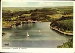 Postcard Attendorn im Sauerland, Hotel Restaurant Listertalsperre, Alfons Stahlherm