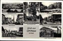 Postcard Gronau im Münsterland Westfalen, Neustraße, kath. Krankenhaus, Stadtpark