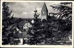 Postcard Hilden Attendorn im Sauerland, Blick auf den Burgturm