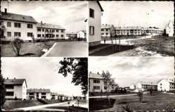Postcard Wassertrüdingen Mittelfranken, Schwarzkopfsiedlung, Wohngebiet, Reihenhäuser