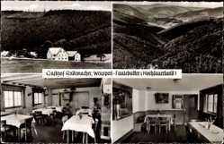Postcard Weuspert Faulebutter Finnentrop, Pension, Speiseraum