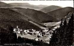 Postcard Nordenau Schmallenberg im Hochsauerland, Blick ins Tal zur Stadt