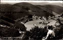 Postcard Nordenau Schmallenberg im Hochsauerland, Gesamtansicht. Blick ins Tal