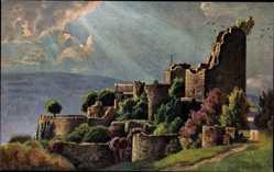Künstler Ak Bürger, W., Ottrott Elsaß Bas Rhin, Schlossruine Lützelburg