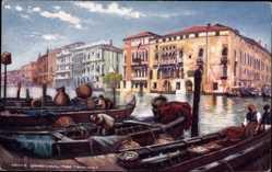Künstler Ak Venezia Venedig Veneto, Grand Canal from Fishmarket, Tuck 7038