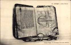 Postcard Cordes Tarn, Libre Ferrat, Alte Inkunabel, Altes Buch