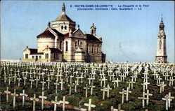 Postcard Notre Dame de Lorette Pas de Calais, Chapelle et la Tour