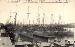 Postcard Saint Malo Ille et Vilaine, Côte d'Emeraude, Escale de Contre Torpilleurs