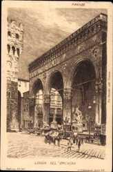 Künstler Ak Brack, A., Firenze Florenz Toscana, Loggia del'Orcagna