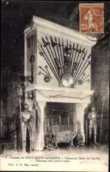 Postcard Chaumont sur Loire et Cher, Chateau, Cheminee, Salle des Gardes