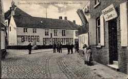 Postcard Zevecote Westflandern Belgien, Capelle Straat mit General Eberhardtbrunnen