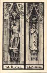 Postcard Xanten am Niederrhein, St Victor und St Helena am Südportal des Doms