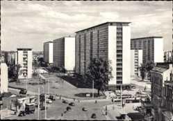 Postcard Hamburg Eimsbüttel Rotherbaum, Wohnhäuser am Grindel, Plattenbauten