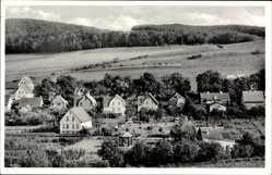 Postcard Bruchhausen Höxter in Nordrhein Westfalen, Dorfteil und Brunnenanlage