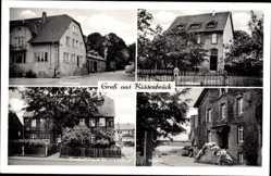 Postcard Kissenbrück in Niedersachsen, Gutshaus, Mühle, Geschäftshaus Siedentop