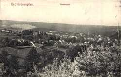 Postcard Bad Grünenplan Delligsen, Gesamtansicht der Ortschaft