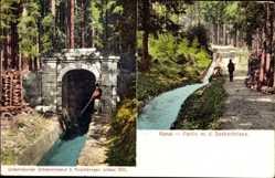 Postcard Haslach im Kinzigtal Ortenaukreis Baden Württemberg, Kanal, Seebachriese