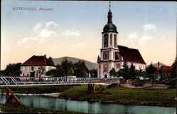 Postcard Bad Rotenfels Gaggenau im Murgtal Kreis Rastatt, Murgtal, Kirche, Brücke