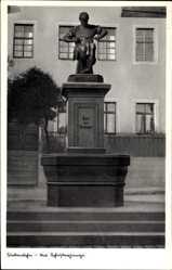 Postcard Siebenlehn Großschirma in Mittelsachsen, Blick auf den Schusterjungen