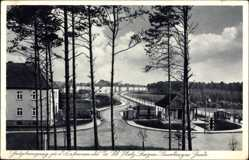 Postcard Bergen Lüneburger Heide, Haupteingang zum Truppenübungsplatz, Kaserne